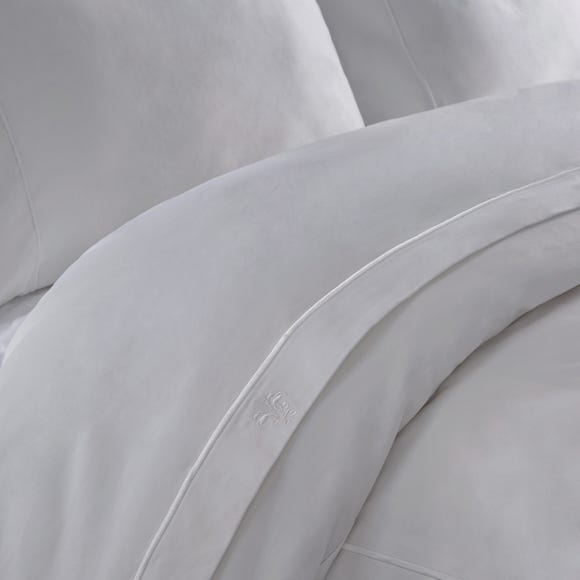 Dorma Egyptian Cotton 1000 Thread Count Cream Flat Sheet Silver undefined