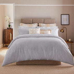 Dorma Egyptian Cotton 1000 Thread Count Silver Duvet Cover