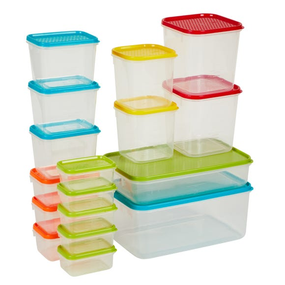 17 Piece BPA Free Food Storage Container Set Clear