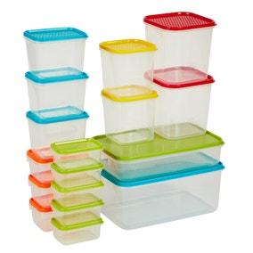 17 Piece BPA Free Food Storage Container Set