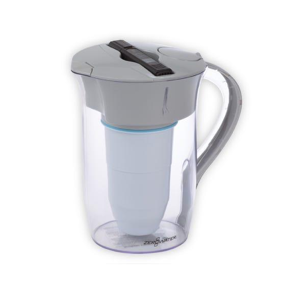 ZeroWater 8 Cup Round Water Pitcher Jug Grey