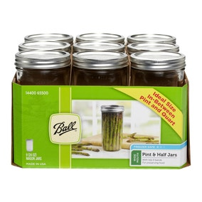 Pack of 9 Ball Mason 710ml Wide Mouth Preserving Jars