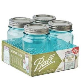 Pack of 4 Ball Mason Vintage 473ml Regular Mouth Preserving Jars