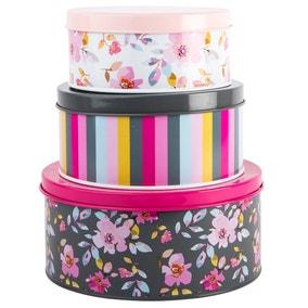 Gardenia Trio of Nesting Cake Tins