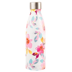 Gardenia White Floral Stainless Steel Insulated 500ml Drinks Bottle