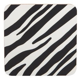 Madagascar Set of 4 Zebra Stripe Coasters