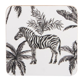 Madagascar Set of 4 Zebra Repeat Coasters
