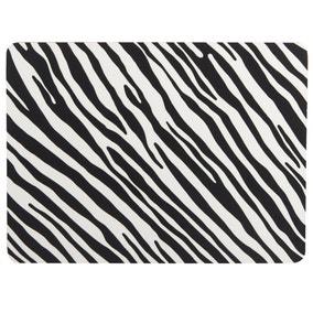 Madagascar Set of 4 Zebra Stripe Placemats