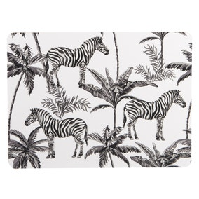 Madagascar Set of 4 Zebra Repeat Placemats