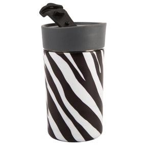 Madagascar Zebra Stripe 300ml Insulated Travel Mug