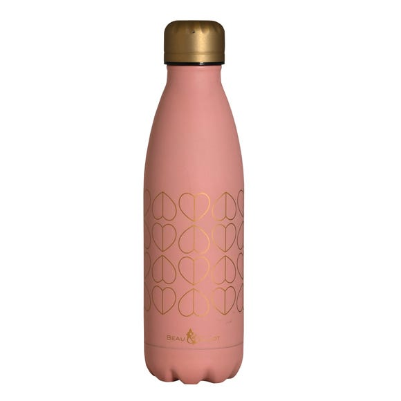Beau and Elliot Blush 500ml Stainless Steel Insulated Drinks Bottle Pink