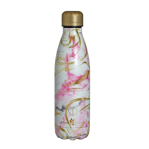 Beau and Elliot Quartz 500ml Stainless Steel Insulated Drinks Bottle Pink