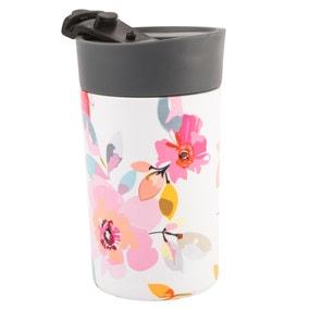 Gardenia White Floral Insulated 300ml Travel Mug