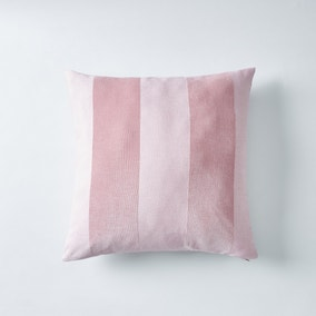 Chenille Rose Stripe Cushion