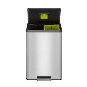 EKO Ecocasa II 20/20 Litre Stainless Steel Recycling Pedal Bin