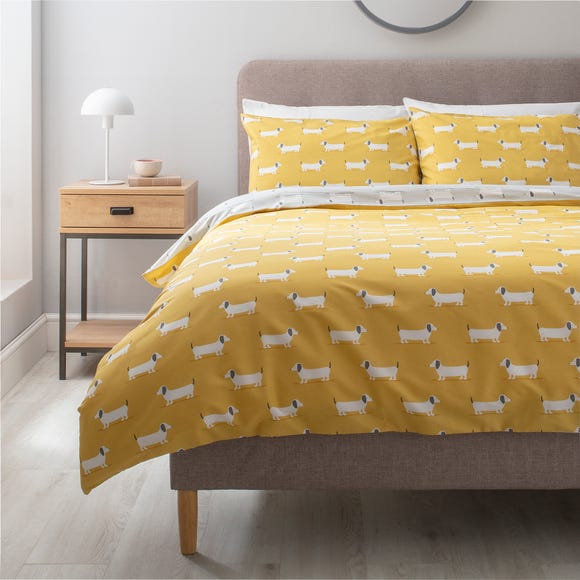 Bertie Grey Duvet Cover and Pillowcase Set  undefined