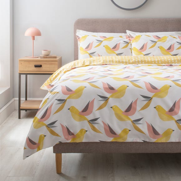 Birdie Yellow Duvet Cover and Pillowcase Set  undefined