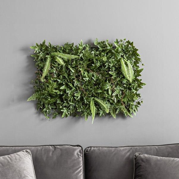 Green Ivy Fern Panel Green