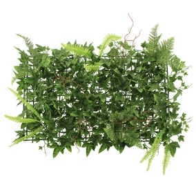 Green Ivy Fern Panel