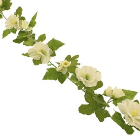 Hollyhock Garland 150cm Cream
