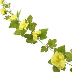 Hollyhock Garland 150cm Yellow