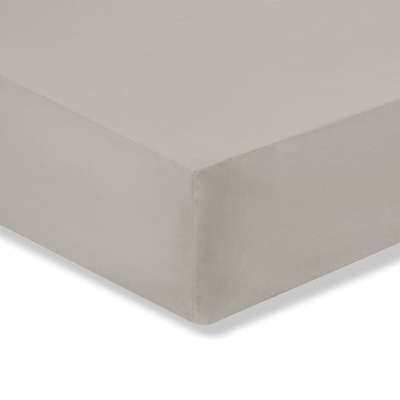Sustainable Easy Care Fitted Sheet Silver undefined