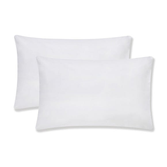 Sustainable Easy Care White Housewife Pillowcase Pair