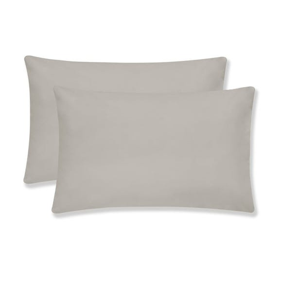 Sustainable Easy Care Silver Housewife Pillowcase Pair