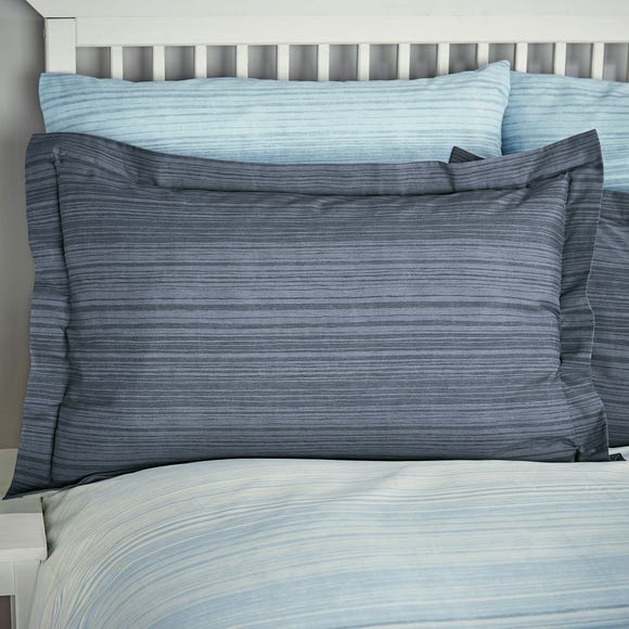 Halton Blue Oxford Pillowcase Blue