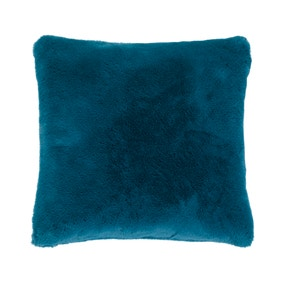 Adeline Peacock Faux Fur Cushion Cover