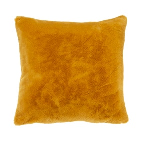 Adeline Old Gold Faux Fur Cushion Cover