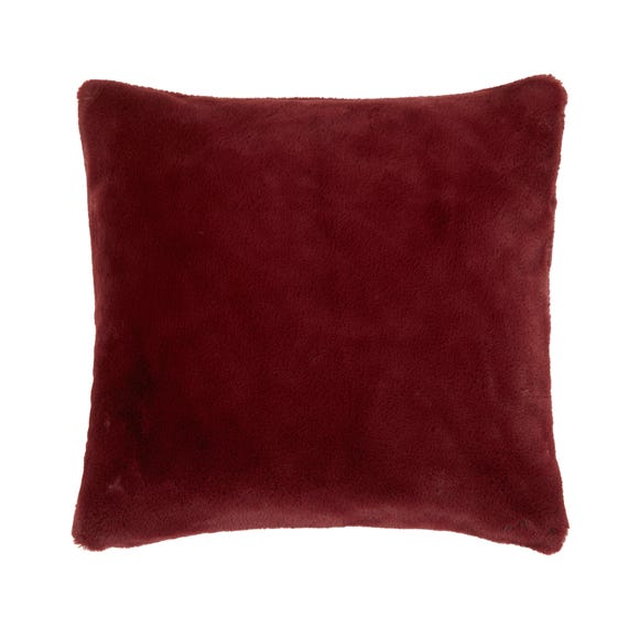 Adeline Faux Fur Cushion Cover Merlot undefined