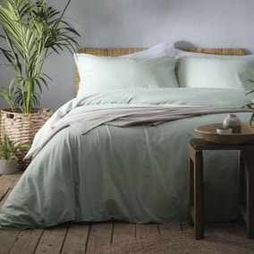 Appletree Cassia Green 100% Cotton Duvet Cover and Pillowcase Set