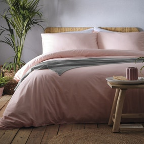 Appletree Cassia Coral 100% Cotton Duvet Cover and Pillowcase Set