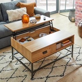 Fulton Oak Effect Lift Up Coffee Table