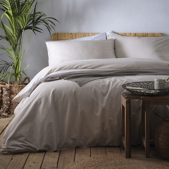 Appletree Cassia Linen 100% Cotton Duvet Cover and Pillowcase Set  undefined