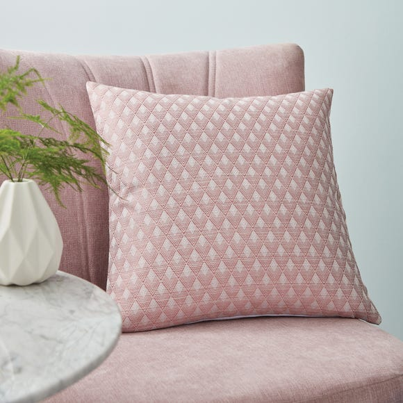 Deco Geo Rose Cushion Cover Pink