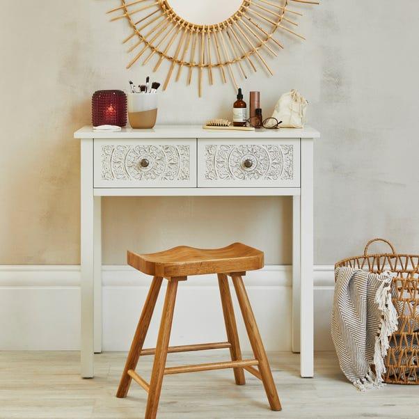 Samira Carved Dressing Table White