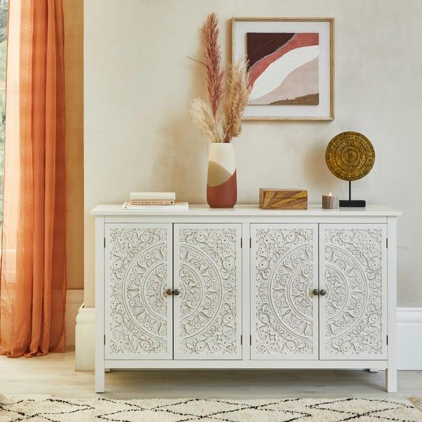 Samira Large Sideboard White