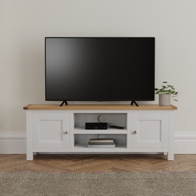 Bromley White Wide TV Stand