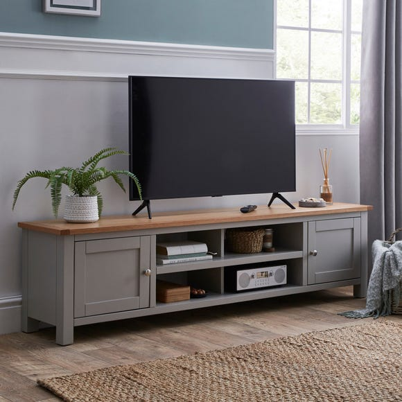 Bromley Grey Extra Wide TV Stand Grey