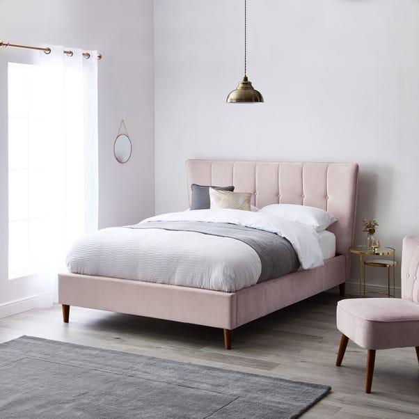 Isla Velvet Bed Frame - Blush Blush Pink Isla undefined