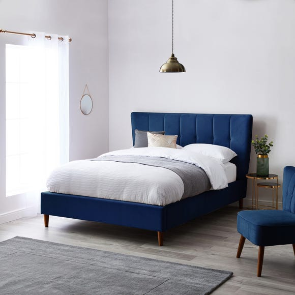 Isla Velvet Bed Frame - Midnight Midnight Blue Isla undefined