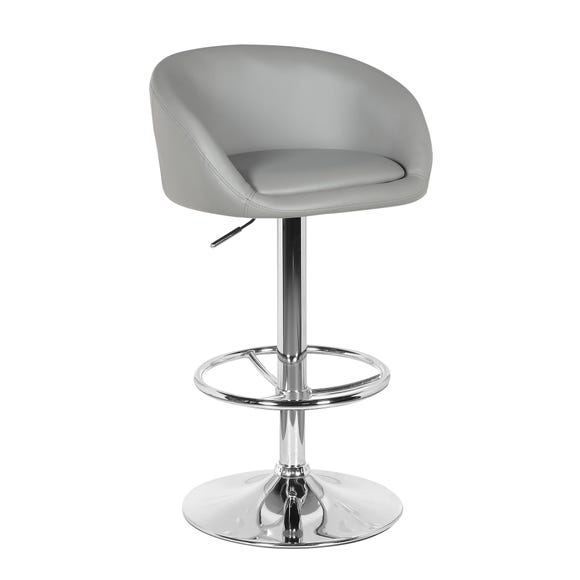 Apollo Bar Stool Grey PU Leather