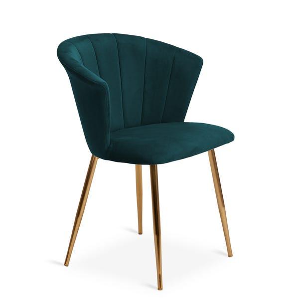 Kendall Chair Teal Velvet Teal (Blue)