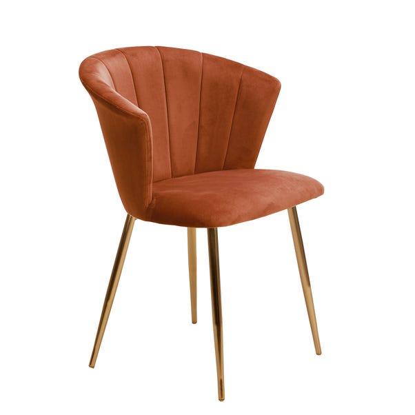 Kendall Chair Burnt Orange Velvet