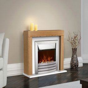 2000W Chester Oak Fireplace Suite