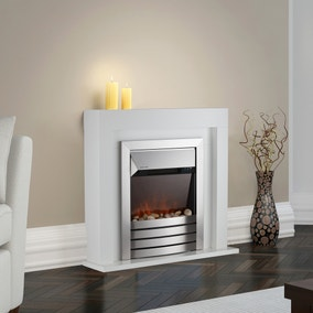 2000W Chester White Fireplace Suite