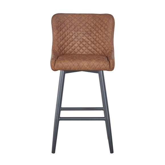 Montreal Bar Stool Tan PU Leather