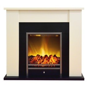 2000W Stratton Cream Electric Fireplace Suite